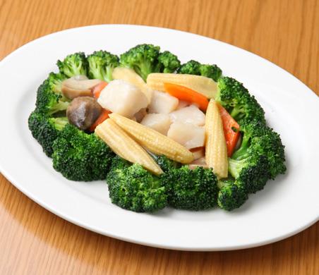 ホタテとブロッコリー炒め